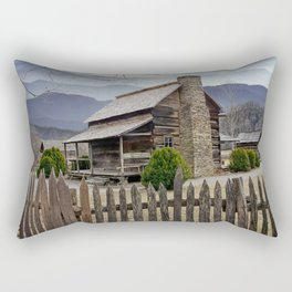 Appalachian Mountain Cabin Rectangular Pillow
