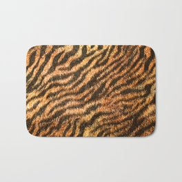 Bengal Tiger Fur Wildlife Print Pattern Bath Mat