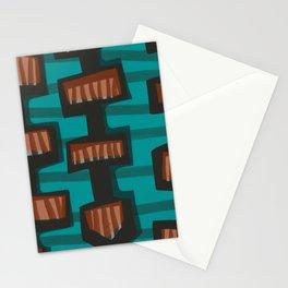 Mid Century Modern 3 Stationery Cards