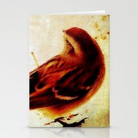 sparrow Stationery Cards featuring Sparrow by Christine Belanger