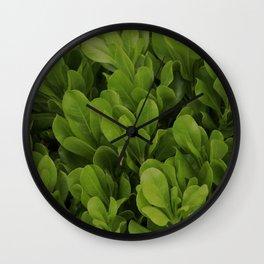 Green Leaves Wall Clock