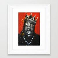 biggie smalls Framed Art Prints featuring Biggie Smalls by Larry Caveney