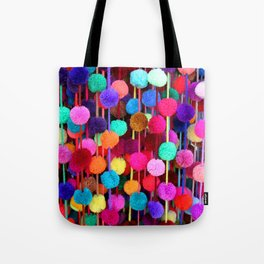 Rainbow Pom-poms (Horizontal) Tote Bag