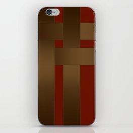 Weave Brown satin ribbons iPhone Skin