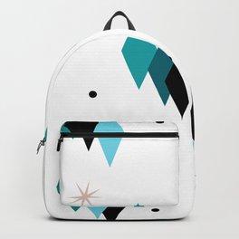 Mid Century Modern Teal Diamonds Backpack