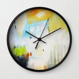 Green gold abstract Wall Clock