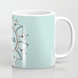 I Feel Free - Soft Light Blue Nouveau Bohemian Mandala Coffee Mug