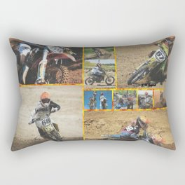 Motocross Collage Rectangular Pillow