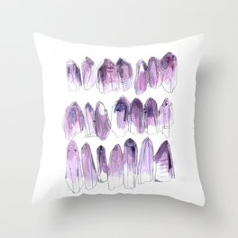 Amethyst - February Throw Pillow
