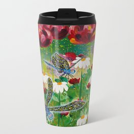 Dusk In The Garden Metal Travel Mug