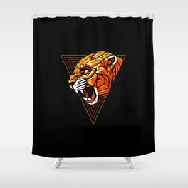 Leopard Punk Machine Shower Curtain