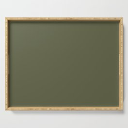Plum's Promise ~ Olive Green Haze Serving Tray