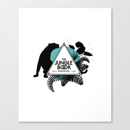 The jungle book - Bagheera panther Canvas Print
