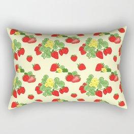Strawberries and Cream Rectangular Pillow