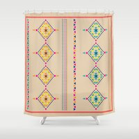 ethnic Shower Curtains featuring Ethnic by ShivaR
