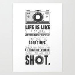 Vintage Camera Quote Art Print