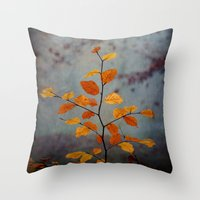 leaves Throw Pillows featuring Leaves by Dirk Wuestenhagen Imagery