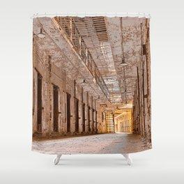 Glowing Prison Corridor Shower Curtain