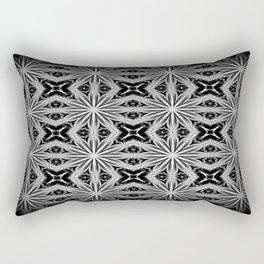 Black Slate Gray Pattern Rectangular Pillow