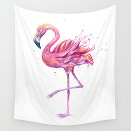Fancy Pink Flamingo Wall Tapestry