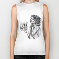 sugar skull Biker Tanks featuring Sugar Skull by April Alayne