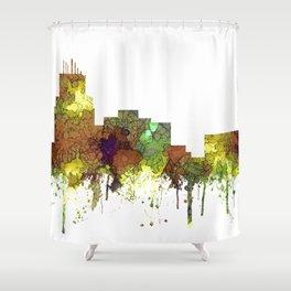 Durham, NC Skyline SG - Safari Buff Shower Curtain