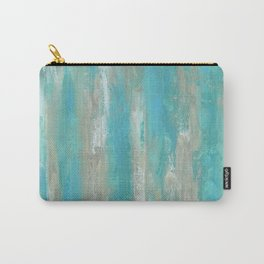 Teal Faux Carry-All Pouch
