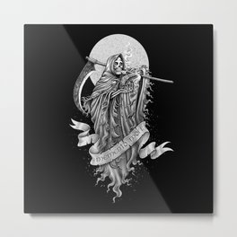 Memento mori (b/w version) Metal Print