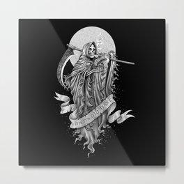 Memento mori (b/w version) Metal Print