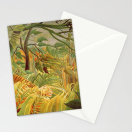 Henri Rousseau - Tiger In A Tropical Storm Stationery Cards