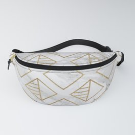 Marble and gold geometric Fanny Pack