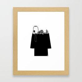 Snoopy Bones Framed Art Print