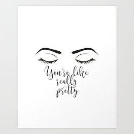 Hello Gorgeous Beauty Room Art Girls Room Hello Beautyful Eyebrows On Fleek Makeup Art Makeup Print Art Print