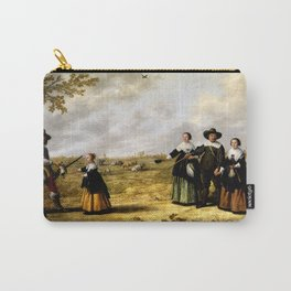 Aelbert Cuyp - Portrait of a Family in a Landscape (1641) Carry-All Pouch