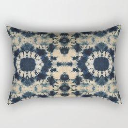 Deep Indigo Circle Shibori Rectangular Pillow
