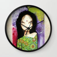 indian Wall Clocks featuring Indian by ByCabotine