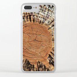 Rings of Time  No.3 Clear iPhone Case