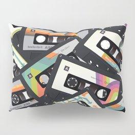Retro Vintage Cassette Tapes Pillow Sham