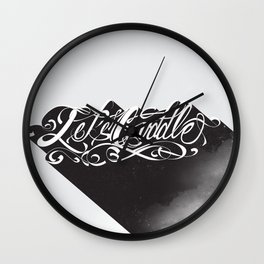 Lets Cuddle Wall Clock