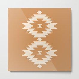 Southwestern Minimalism - Desert Orange Metal Print
