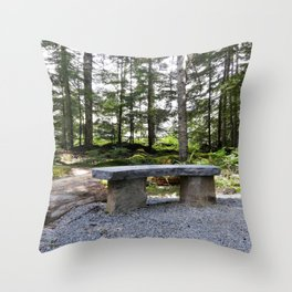 Stop, sit down and just listen to the nature Throw Pillow