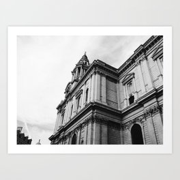 St Paul's Cathedral Black & White Art Print