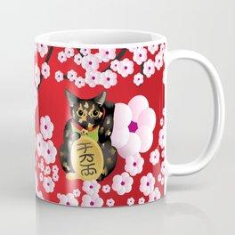 Sakura Maneki Neko Coffee Mug
