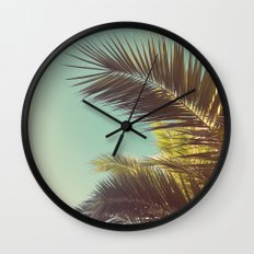 Autumn Palms Wall Clock