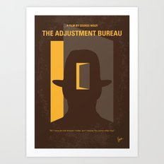 No710 My The Adjustment Bureau minimal movie poster Art Print
