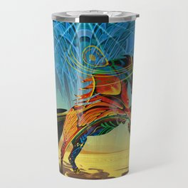The Wind of Time (Red Horse) Travel Mug