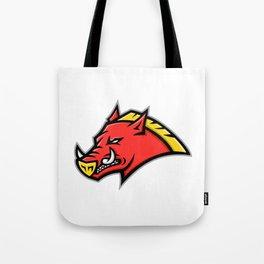 Angry Razorback Mascot Tote Bag