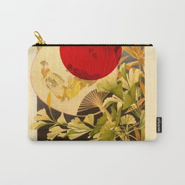 Japanese Ginkgo Hand Fan Vintage Illustration Carry-All Pouch