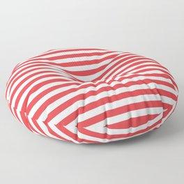Poppy Red Seashell Stripe Floor Pillow