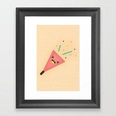 Party Popper Framed Art Print